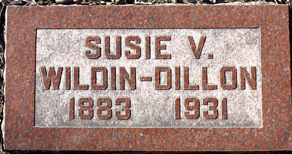 susie viola wildin dillon (1883-1931) - find a grave memorial