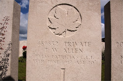 Pvt Thomas William Edward Allen