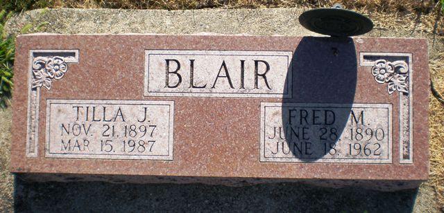 Tilla Juanita Tillie <i>Gilbert</i> Blair