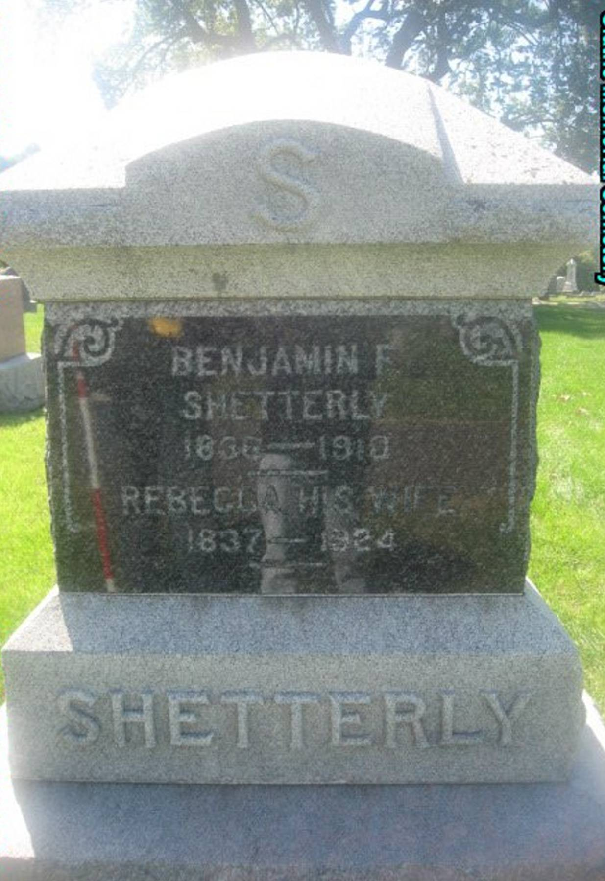 Benjamin F Shetterly