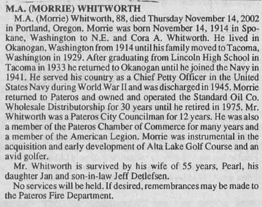 Maurice Alan Morrie Whitworth