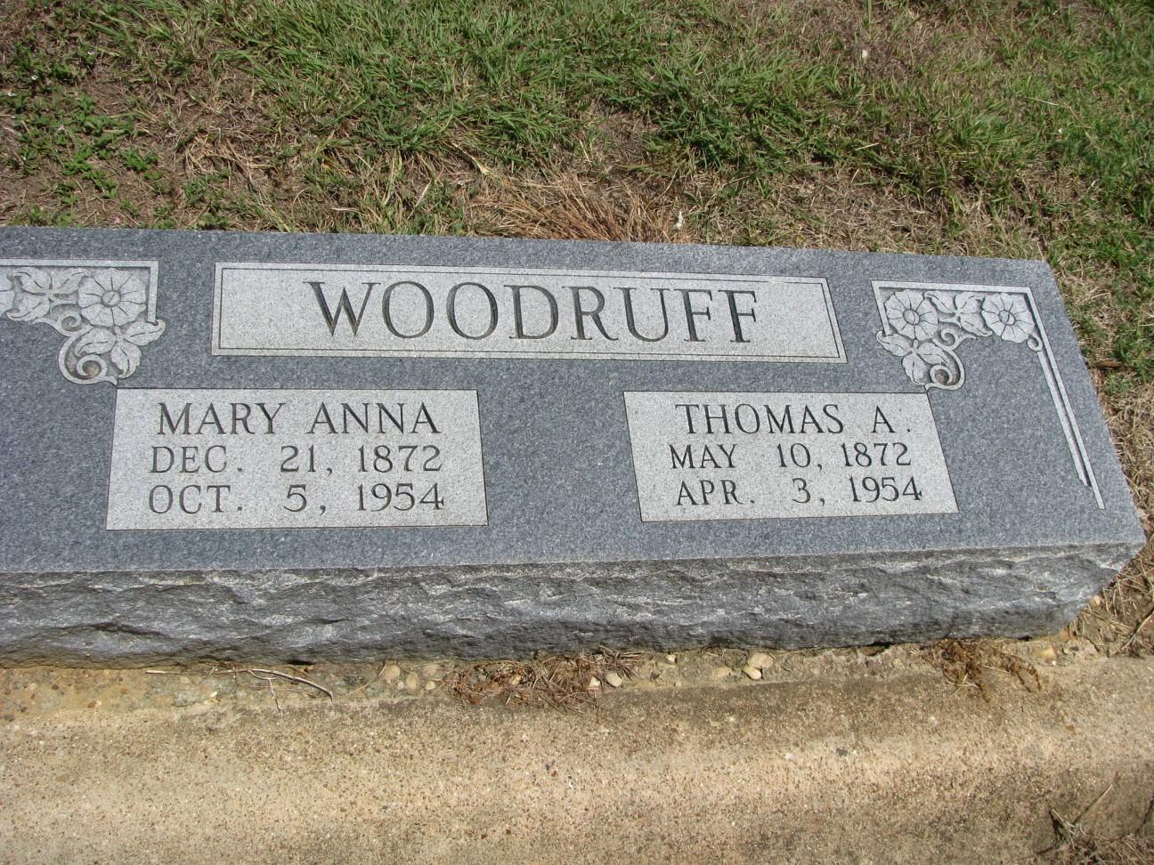 Mary Anna Mamie <i>Rhodes</i> Woodruff