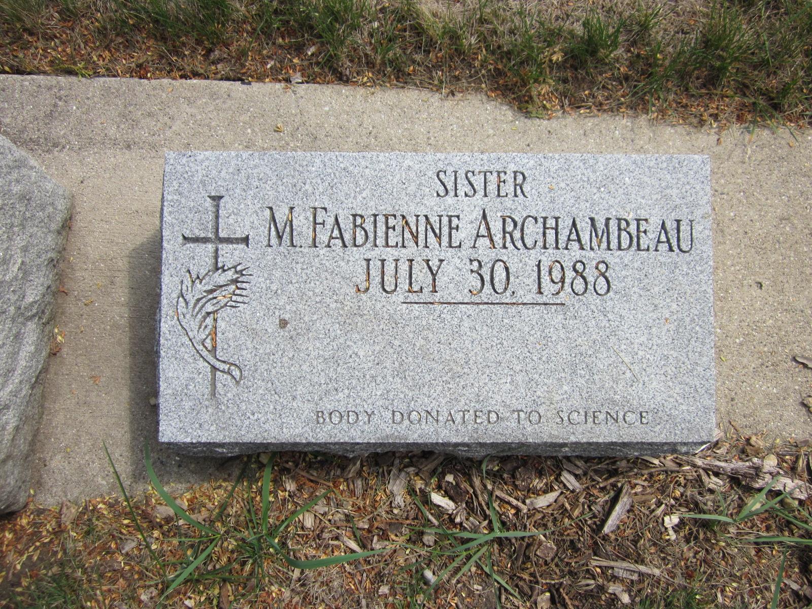 Sr M. Fabienne Archambeau