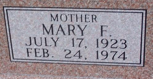 Mary Frances <i>Stone</i> Sherrer