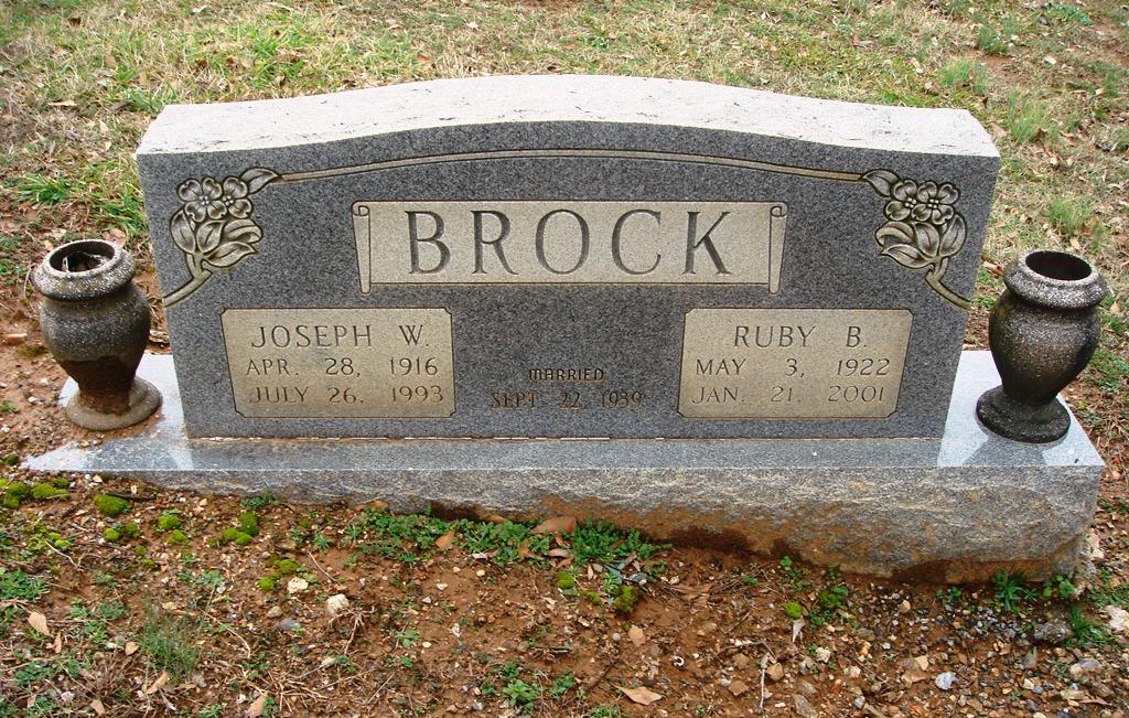 Ruby E. <i>Burns</i> Brock