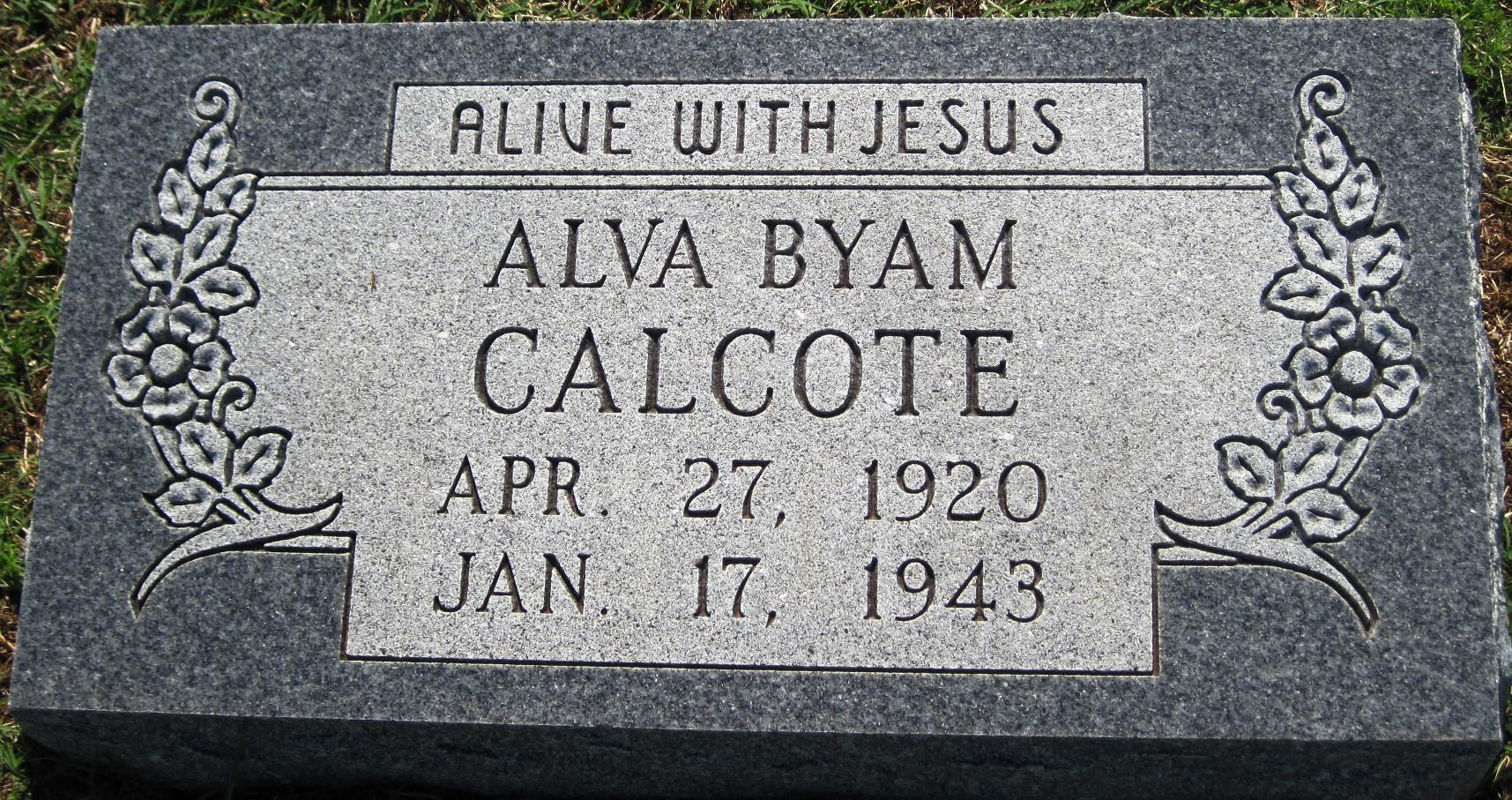 Alva Byam Calcote