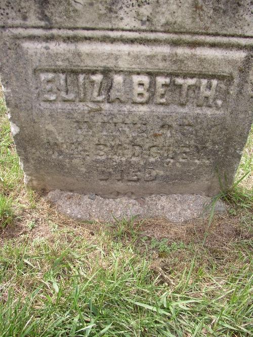Elizabeth Betsey <i>Frazee</i> Badgley