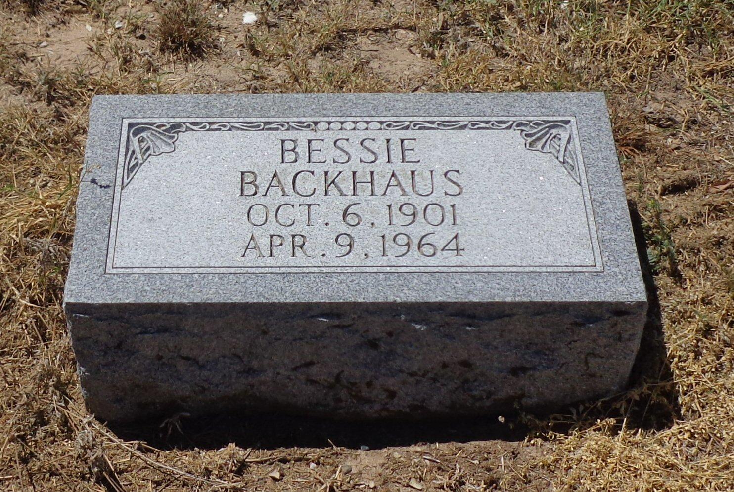Bessie Leona <i>Henry</i> Backhaus