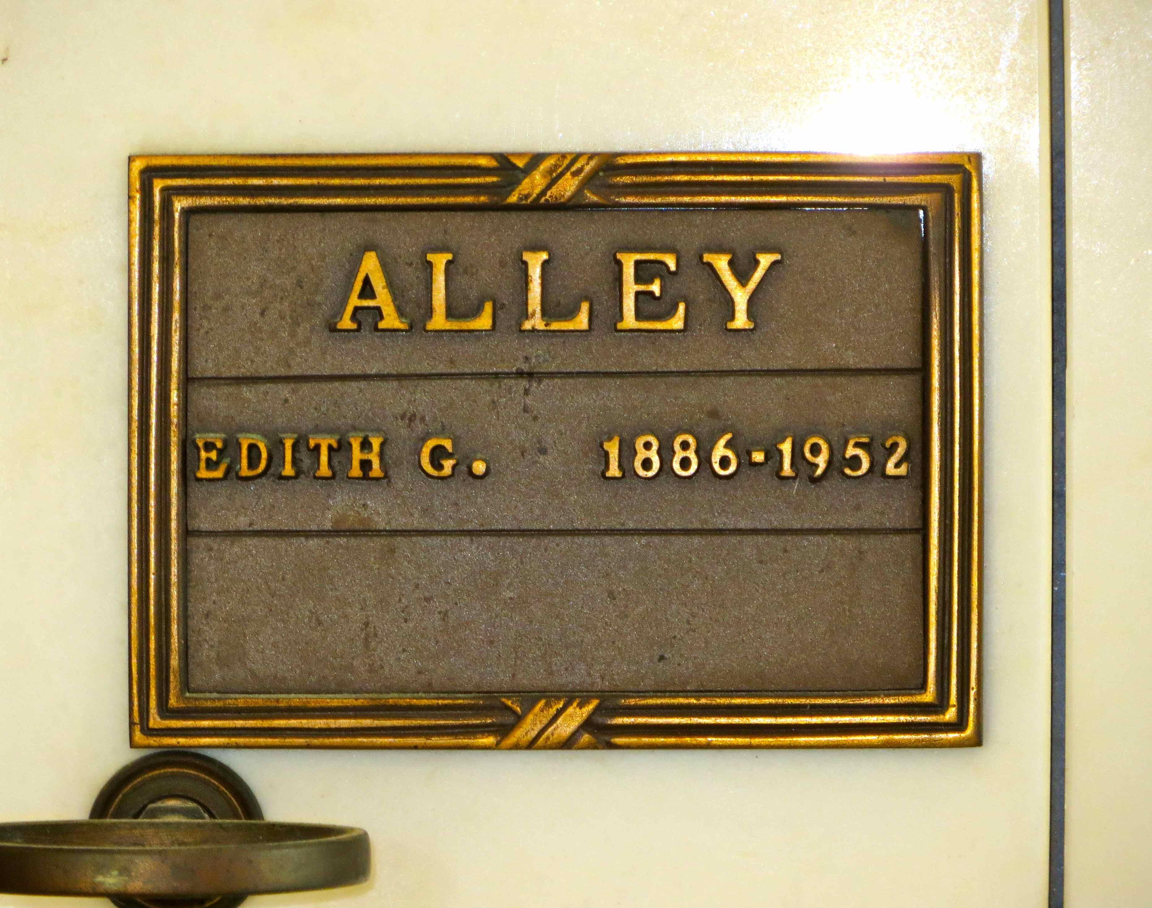 Edith Georgia <i>Roberts</i> Alley