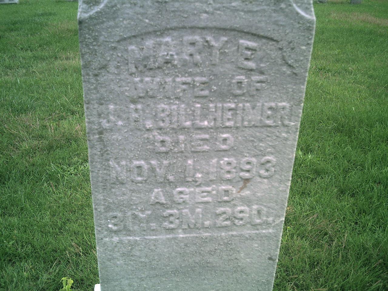Mary E. <i>Holiday</i> Billheimer