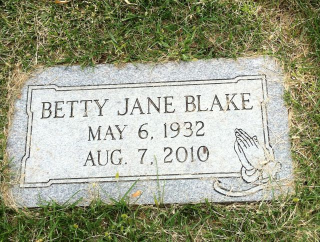 Betty Jane <i>Redus</i> Blake
