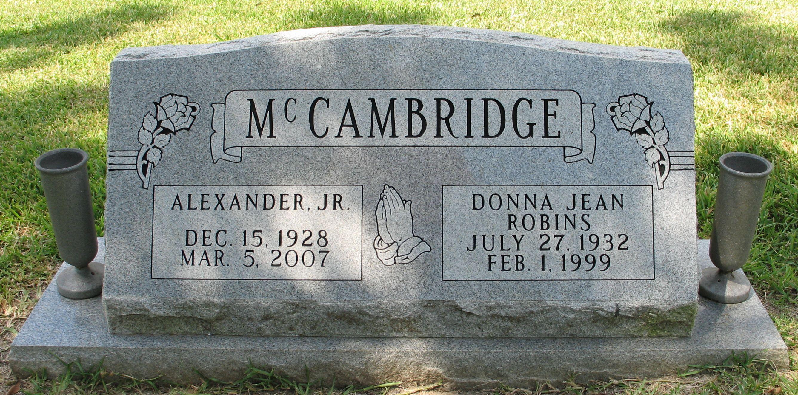 Donna Jean <i>Robins</i> McCambridge