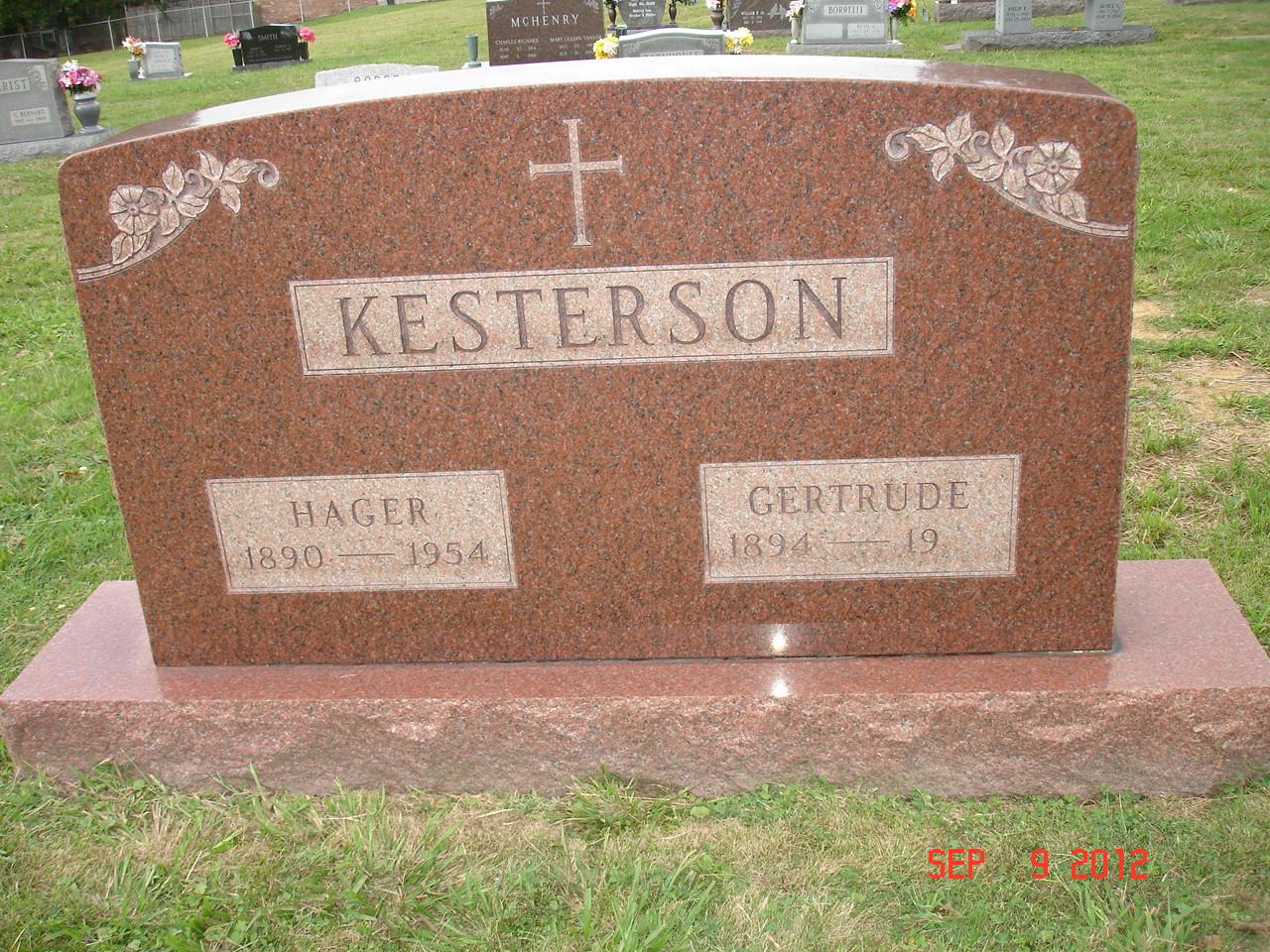 Gertrude Anna <i>Lyons</i> Kesterson