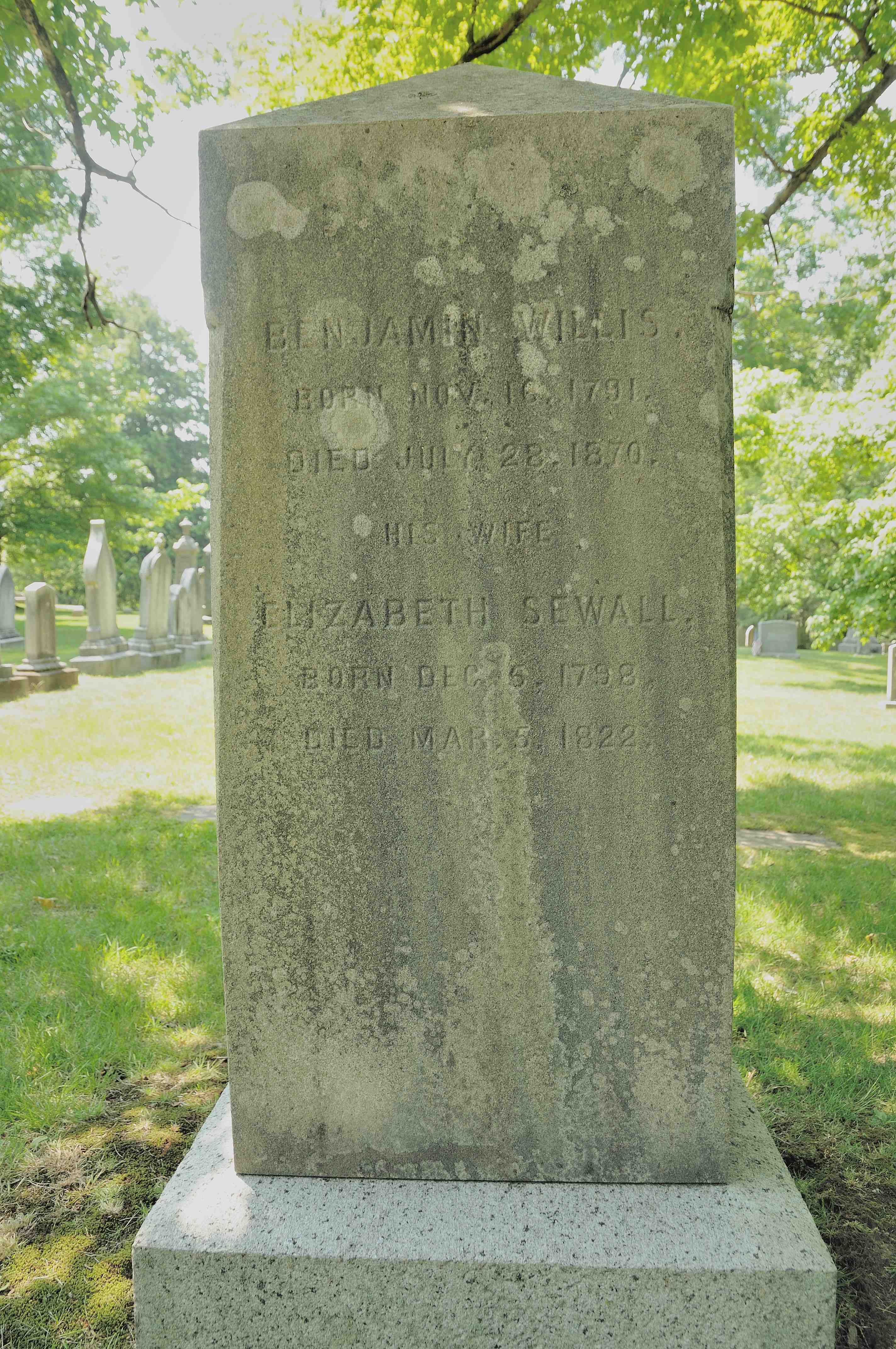 Elizabeth Sewall <i>May</i> Willis