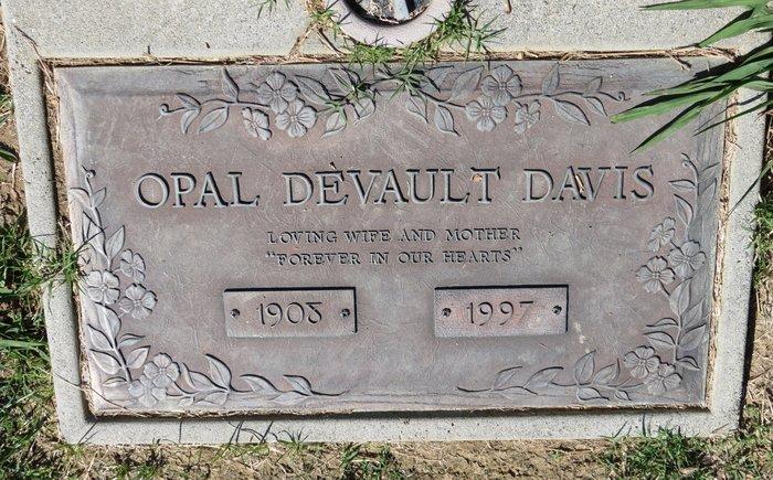 Opal F. <i>Hoover</i> Davis