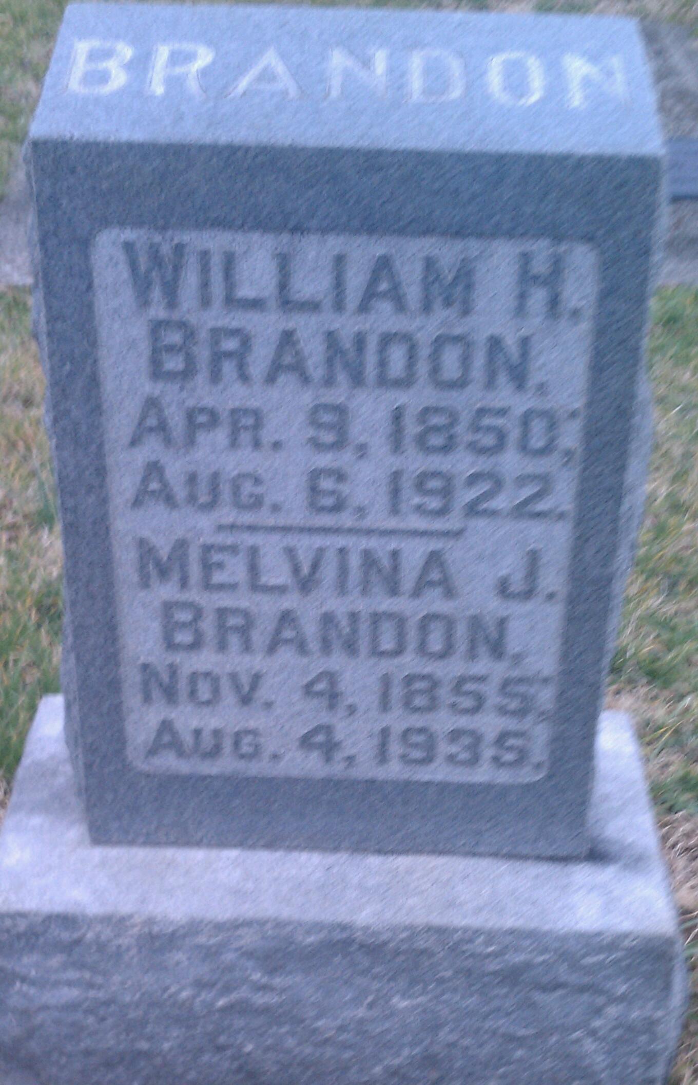 Melvina J. <i>Colden</i> Brandon