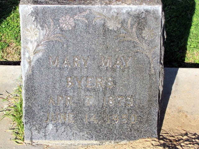 Mary May <i>Troutner</i> Byers