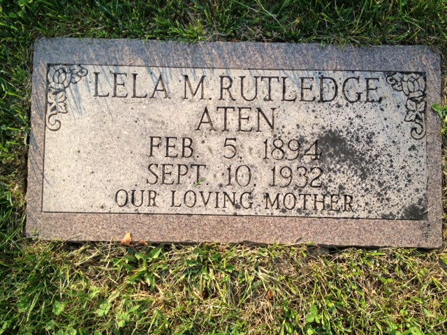 Lela Maude <i>Rutledge</i> Aten