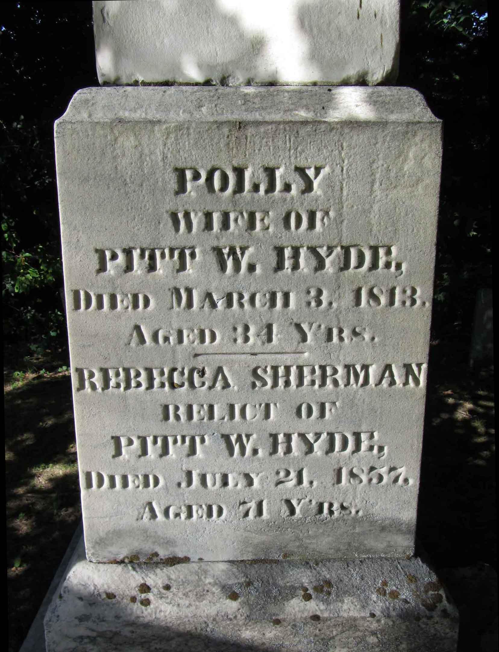 Rebecca <i>Sherman</i> Hyde