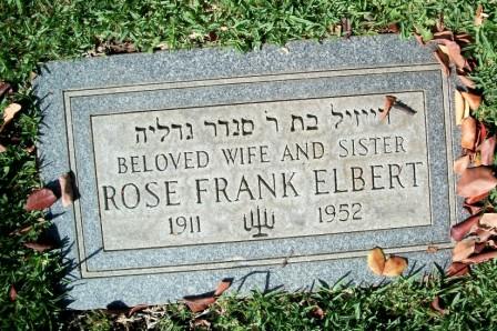 Rose <i>Frank</i> Elbert