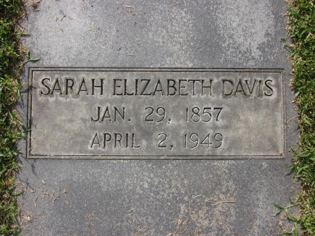 Sarah Elizabeth <i>Kuebler</i> Davis