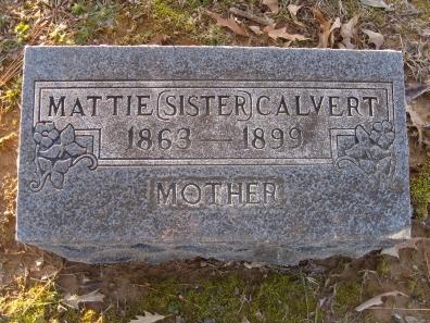 Martha Lafayette Mattie <i>Johnson</i> Calvert