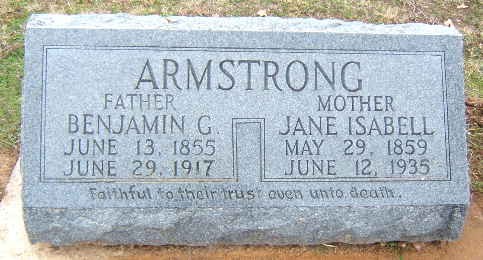 Isabell Jane Bell <i>Debord</i> Armstrong