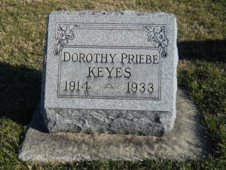 Dorothy <i>Priebe</i> Keyes