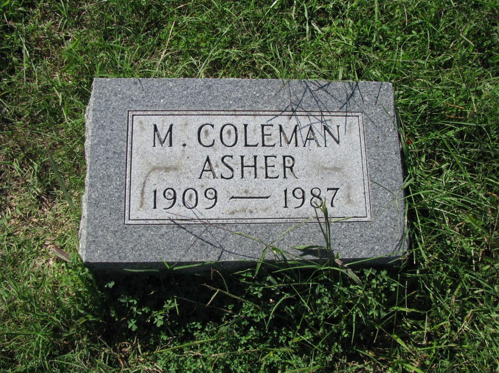 Marshall Coleman Asher