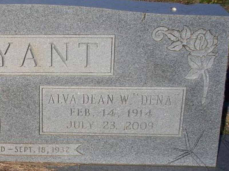 Alva Dean Dene <i>Williams</i> Bryant