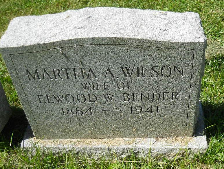 Martha A <i>Wilson</i> Bender