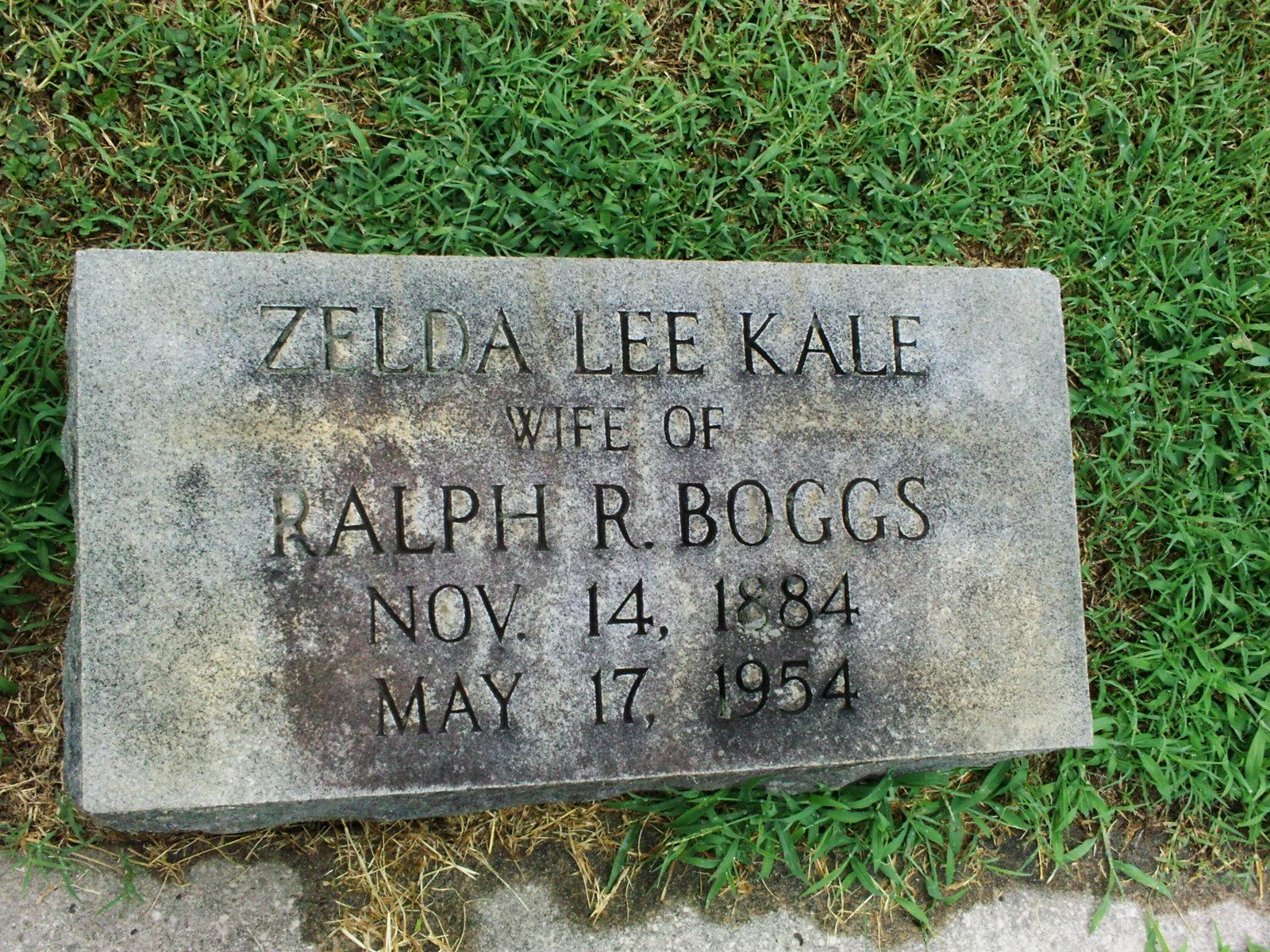 Zelda Lee <i>Kale</i> Boggs