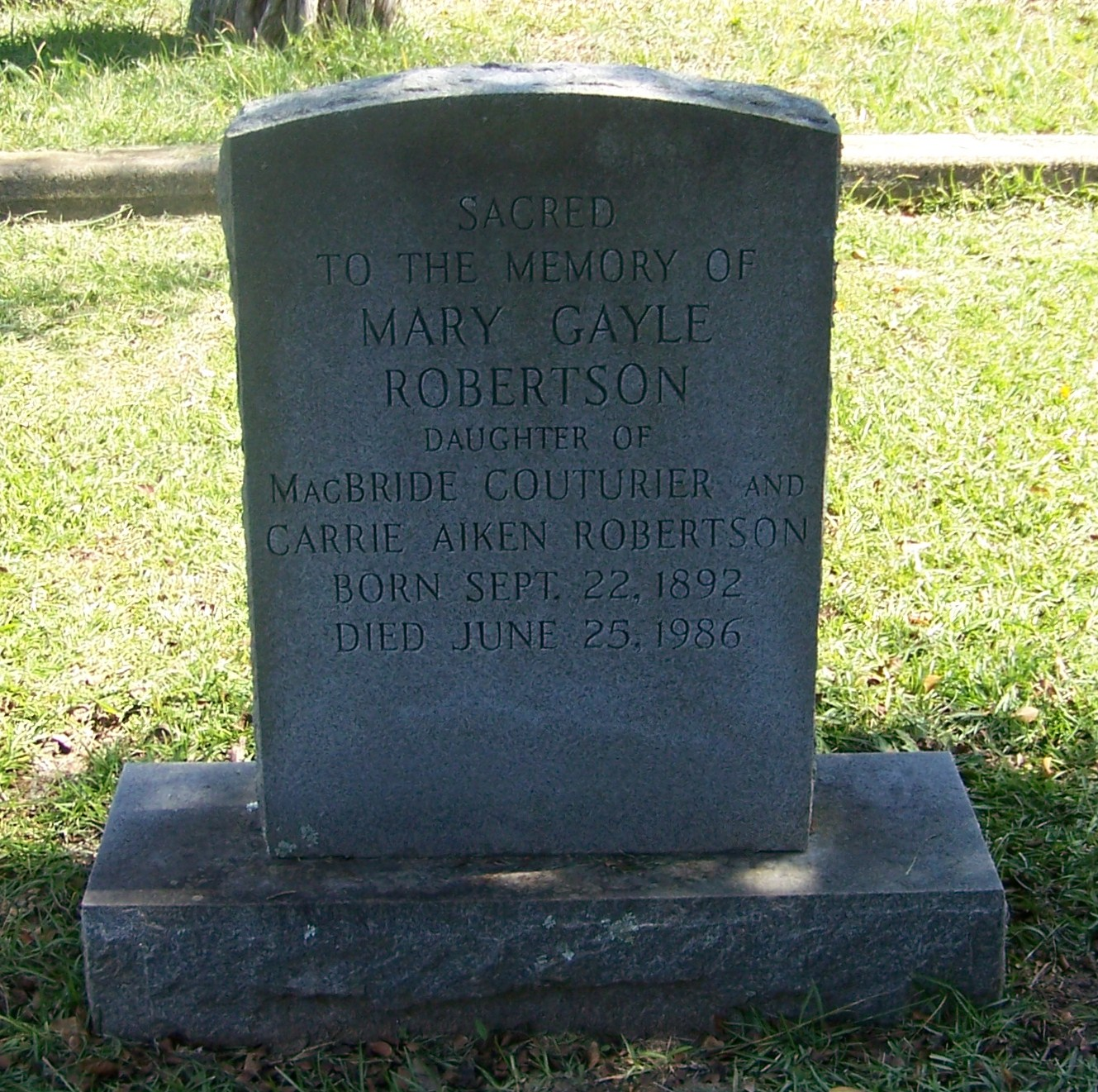 Mary Gayle Robertson