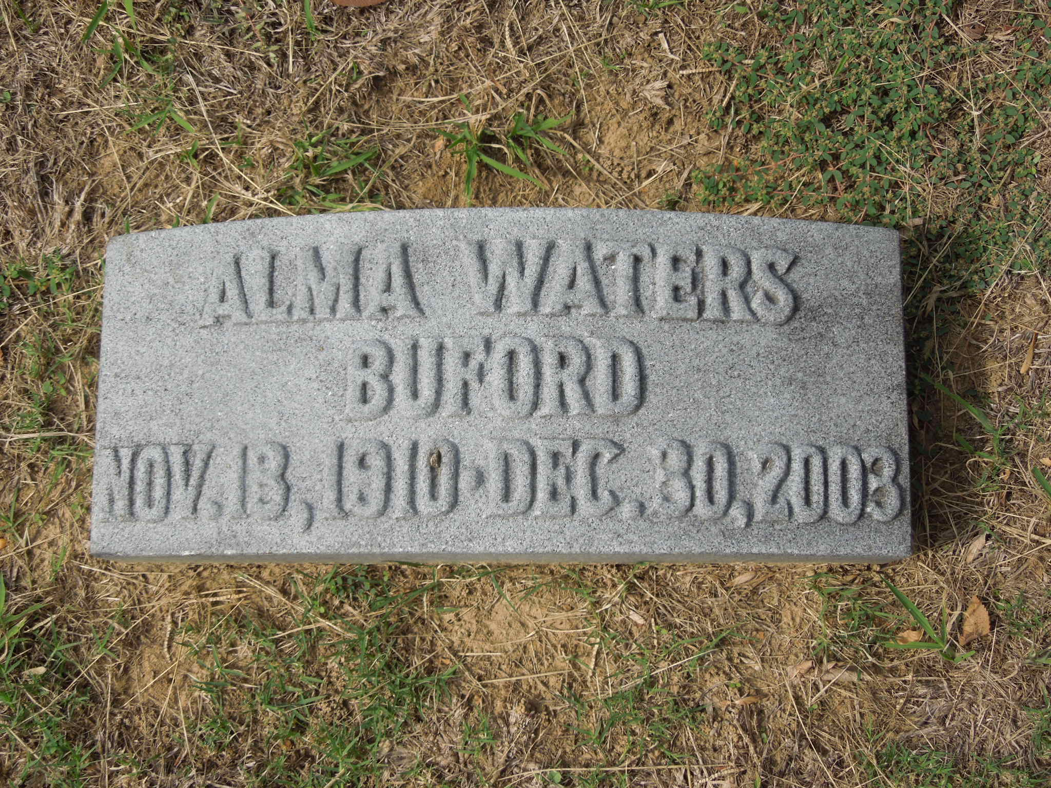 Alma <i>Waters</i> Buford