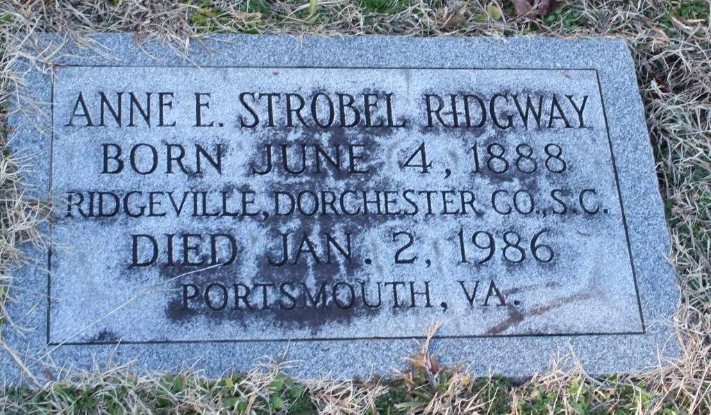 Anne E Ridgway