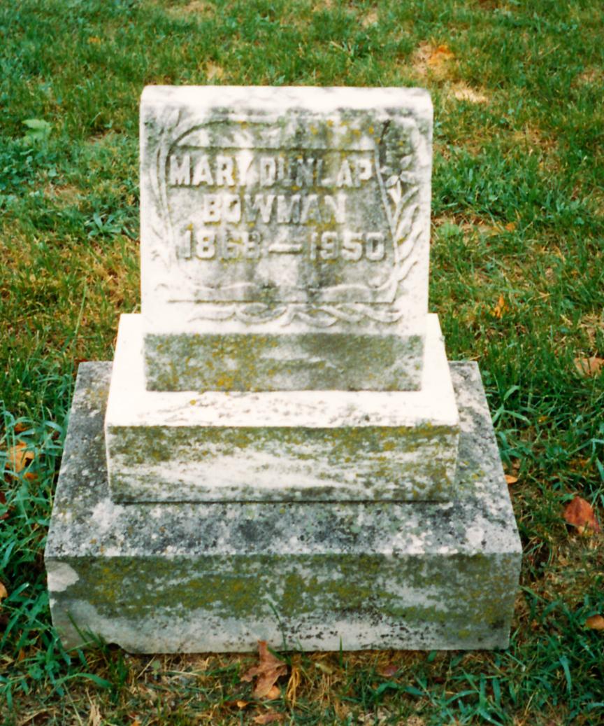 Mary <i>Dunlap</i> Bowman