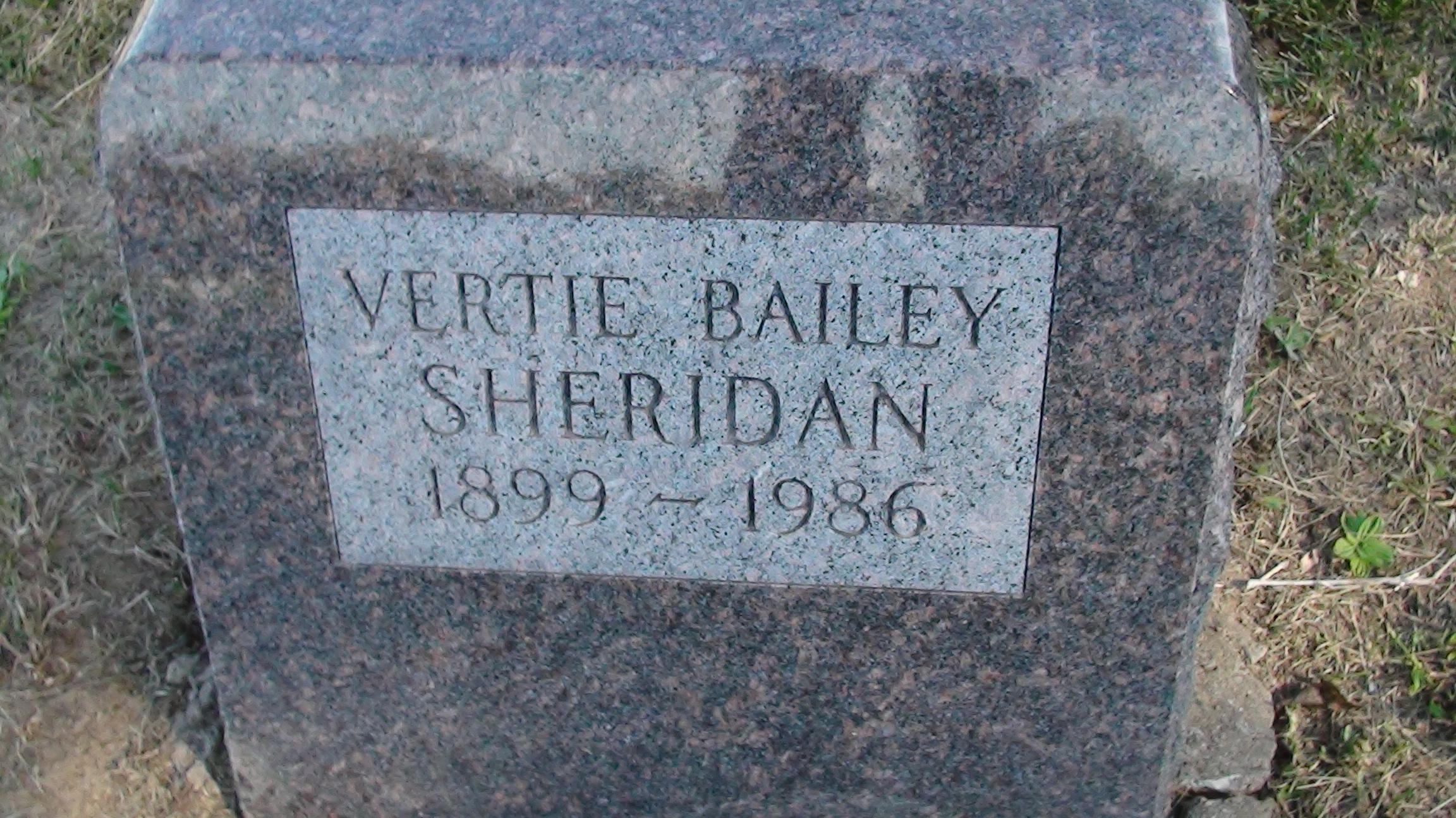 Vertie O. <i>Bailey</i> Sheridan