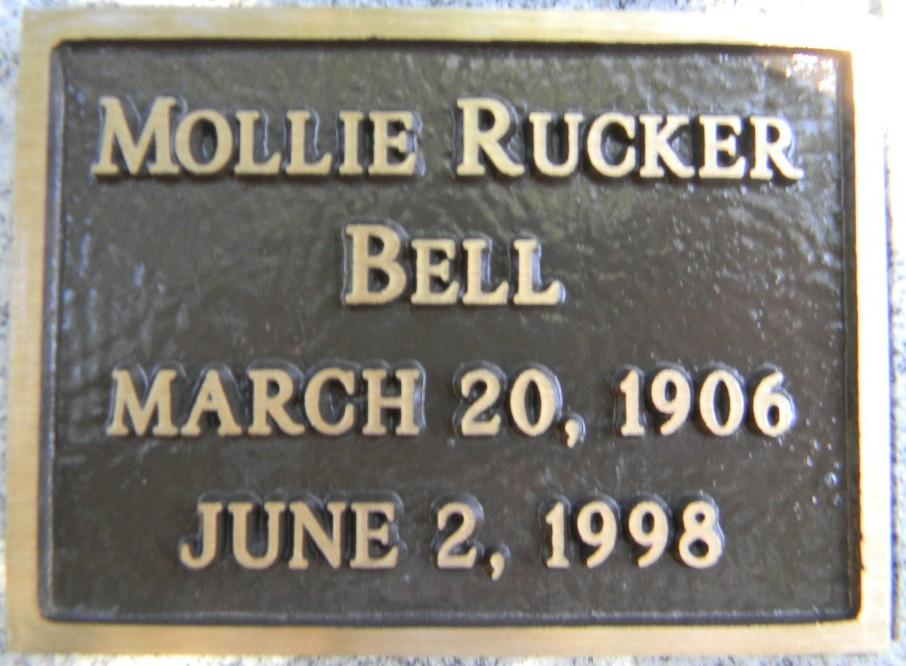 Mollie <i>Rucker</i> Bell