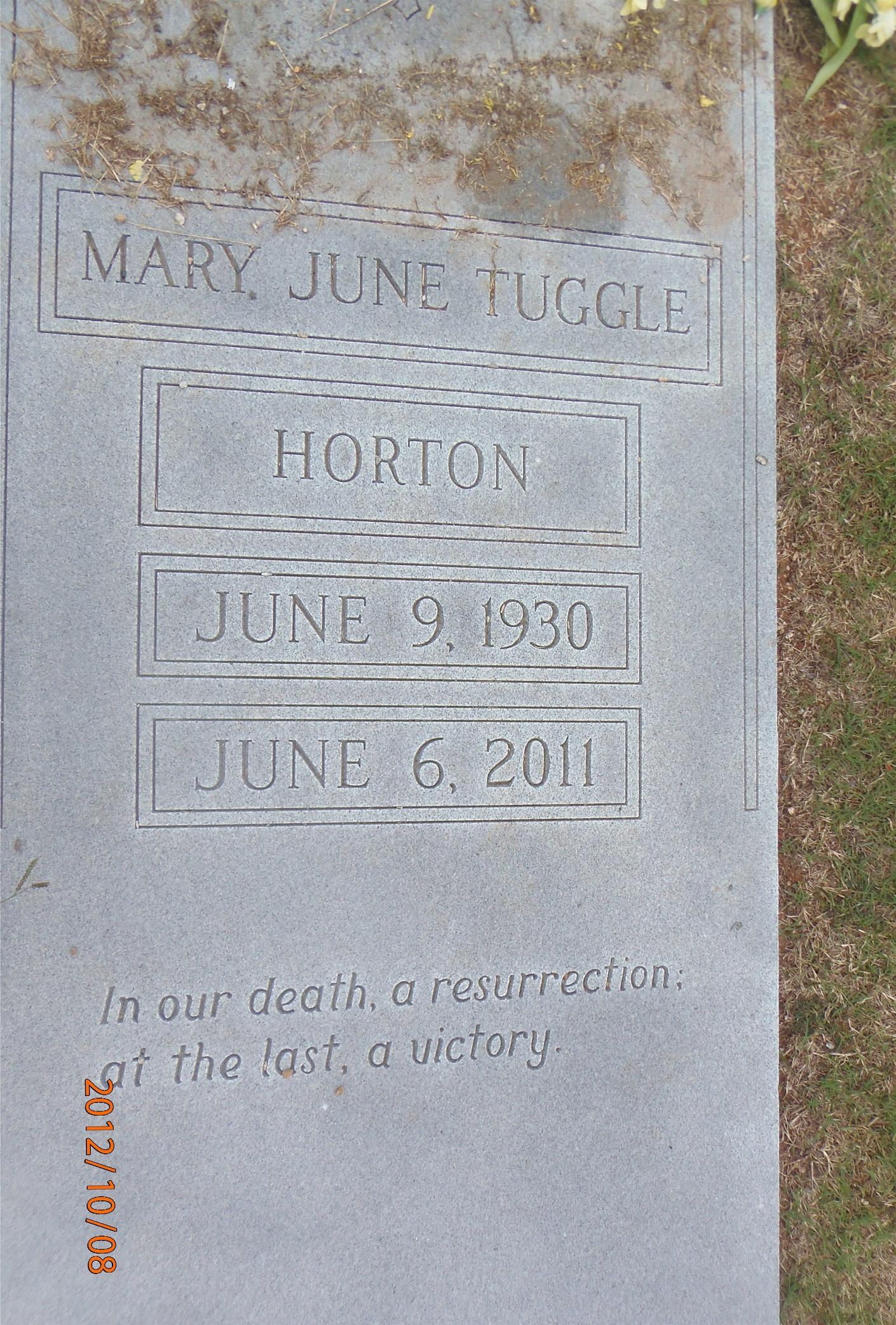 Mary June <i>Tuggle</i> Horton