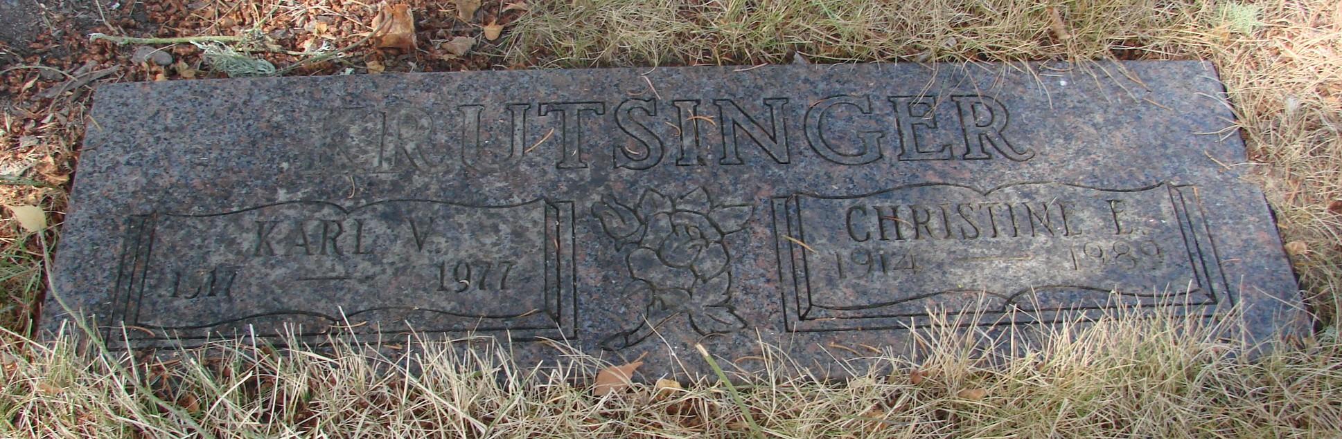 Christine Elizabeth <i>Kallenbach</i> Krutsinger