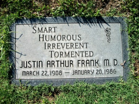 Dr Justin Arthur Frank
