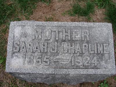 Sarah Jane Sallie <i>Wood</i> Chapline