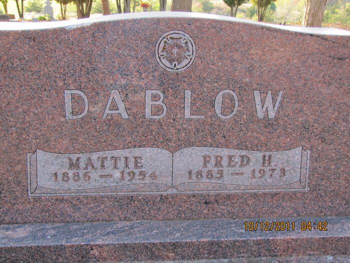 Mattie <i>Hinrich</i> Dablow