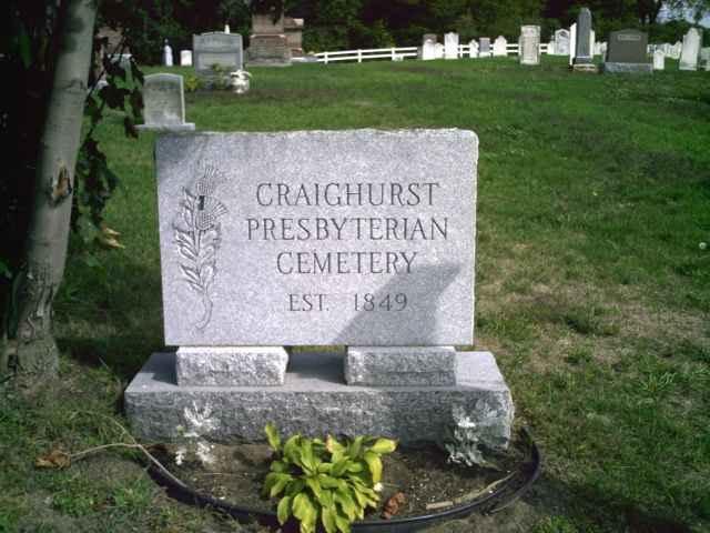 Craighurst Presbyterian Cemetery