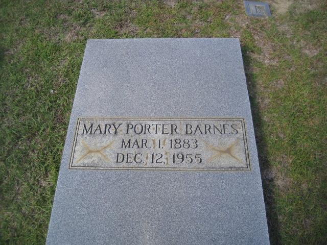 Mary <i>Porter</i> Barnes