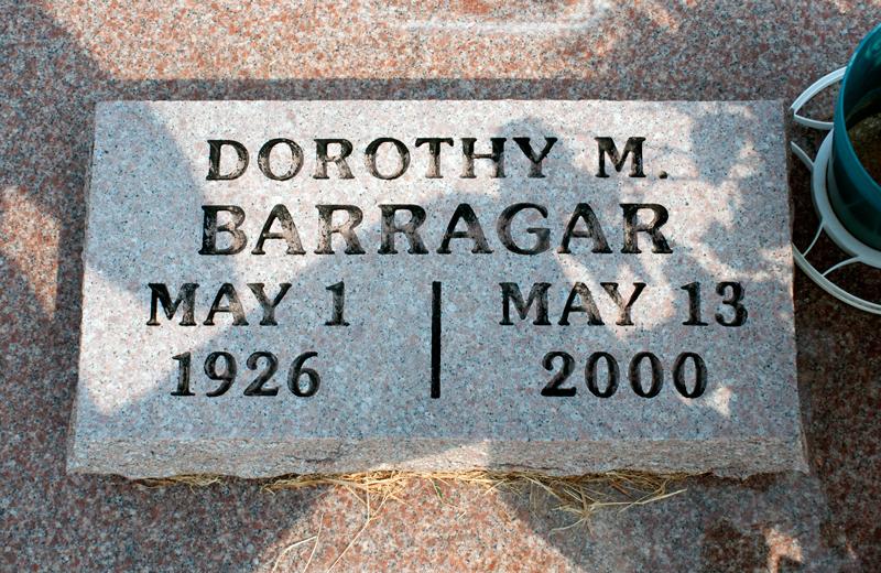 Dorothy May <i>Cunningham</i> Barragar