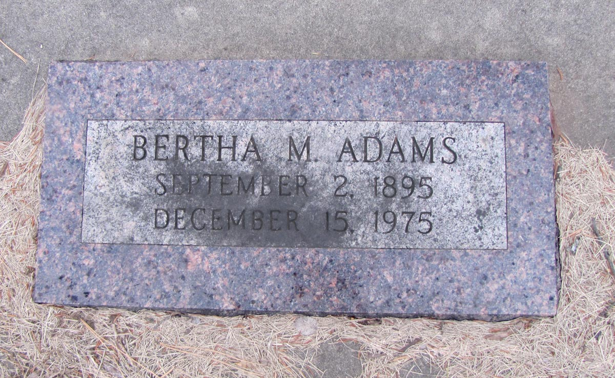 Bertha May <i>Sassman</i> Adams