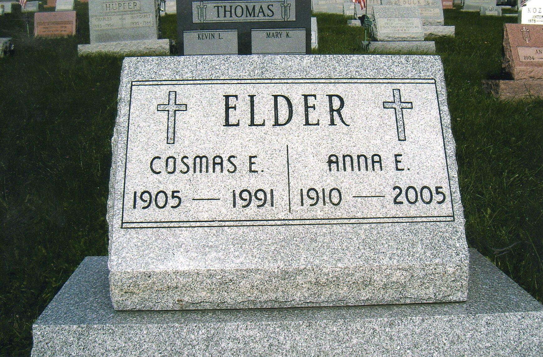 Anna E <i>Strassler</i> Elder