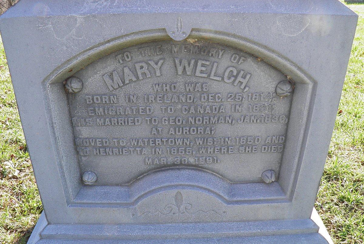 Mary <i>Welch</i> Norman