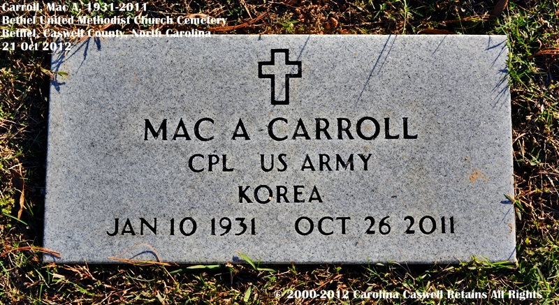 Mac A. Carroll